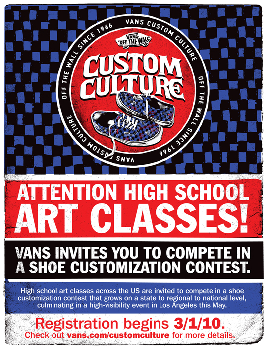 0deb32739249 Vans Shoe Customization Art Class Contest