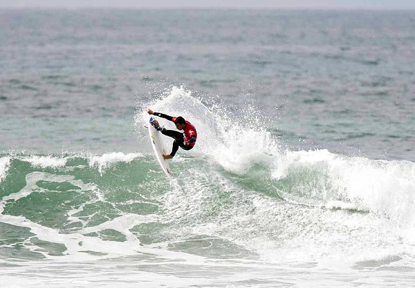 Vans Pier Classic Round of 96 heat winner Tyler Newton. Photo: Steindler