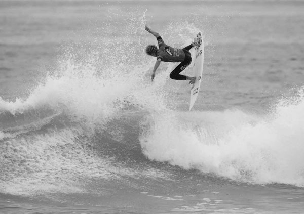 Yes, he can bust airs on his backhand too. Kolohe Andino. Photo: Steindler