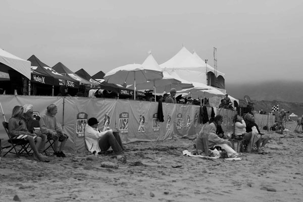 The final day set-up for the 2010 Surfing America Championships. Photo: Steindler