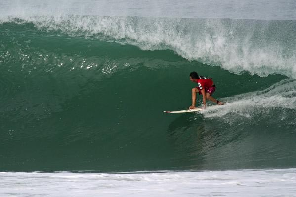 Puerto Escondido's won David Rutherford wins the 4* Quiksilver Pro Puerto Escondido. Photo courtesy ASP North America.