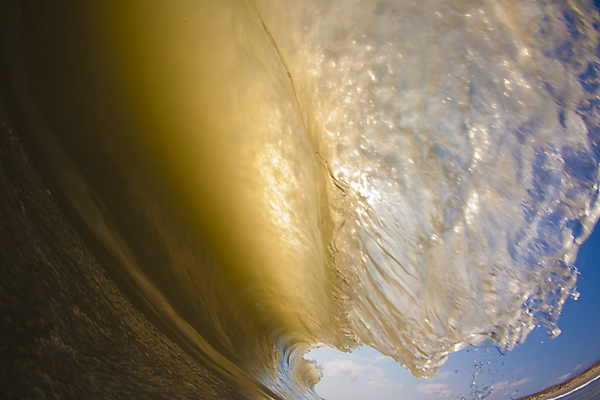 Though Brian Bielmann didn't start shooting water photography till after he moved off the East Coast, some of the ideas for his legendary water shots were probably formed right inside Outer Banks barrels like this one. Photo: Bielmann/SPL