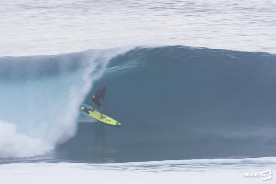 As the season progresses, get used to seeing Nathan Fletcher in a lot more barrels like this... Photo: Bielmann/SPL