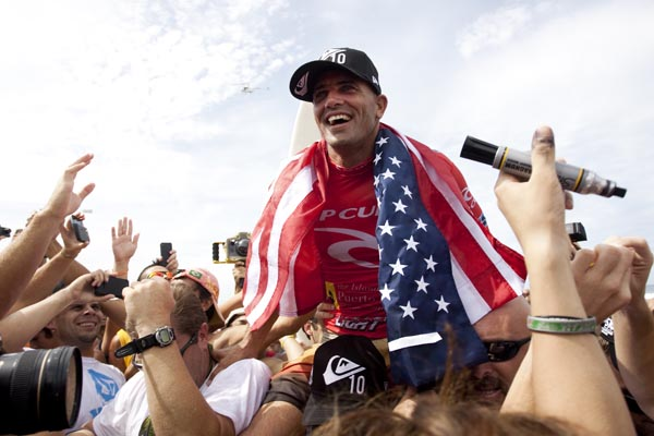 2010 Rip Curl Pro Search Puerto Rico Champion Kelly Slater. Photo: ASP/Kirstin