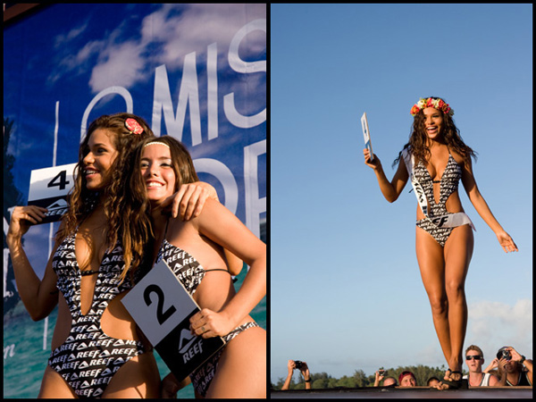 World Miss Reef finalists Vanessa Tello (#2) from Peru and winner Betzida Herrera from Panama.