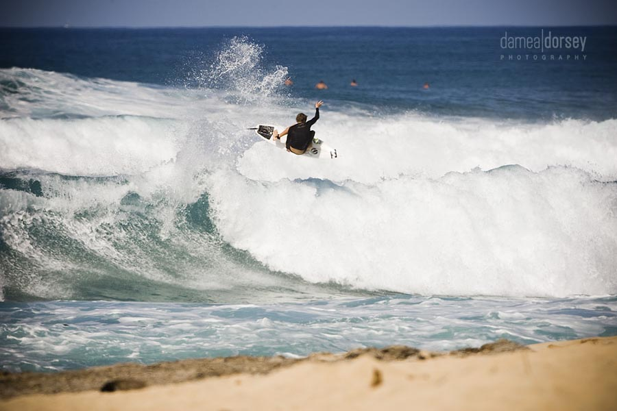 Aussie up and comer Ryan Callinan with a big lien air at Rocky Point. <i>PS Thanks to Geoff Moysa for pointing out that this is actually a stale fish. My bad, I can't do airs and usually ask the TW Skate guys which is which. Photo: Dorsey