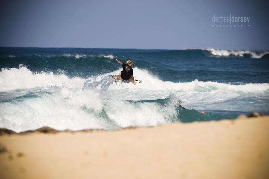 "Chris ""Chippa"" Wilson puts one of four 5'7""s to use at Rocky Point. Photo: Dorsey"