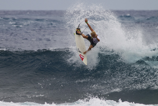 Garrett Parkes of Byron Bay, Australia surfs to victory during the TNS Rangiroa Pro Junior in Rangiroa, French Polynesia today. Photo courtesy ASP