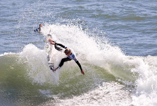 John Florence was the standout of the day in the quarterfinals of the Nike Pro Junior. Photo: US Open