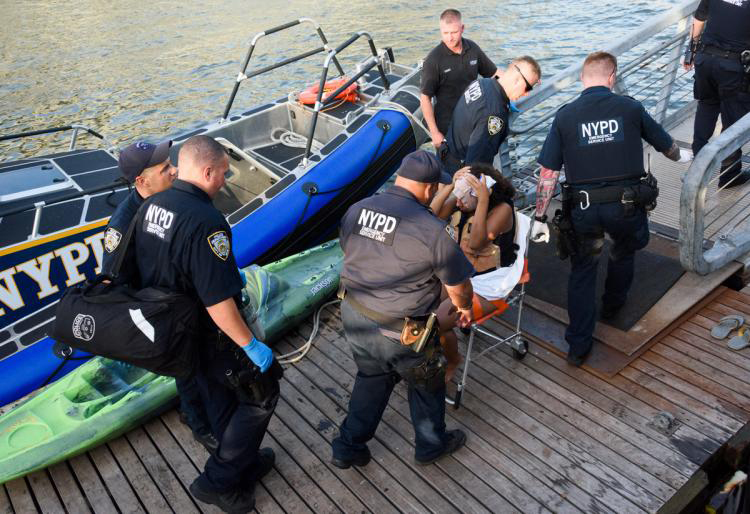 Crowded Waters: Hudson River ferry collides with Manhattan